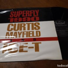 Discos de vinilo: CURTIS MAYFIELD AND ICE-T ?– SUPERFLY 1990-CAPITOL RECORDS ?– 060-20 4037 6-GERMANY-1990-. Lote 218230023