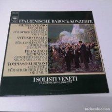 Discos de vinilo: DISCO LP ITALENISCHE BAROCK KONZERTE PIETRO ANTONIO LOCATELLI VIVALDI FRANCESCO GEMIANI TOMMASO. Lote 218235335