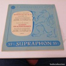 Discos de vinilo: DISCO LP LANGSPIELPLATTE SUPRAPHON LUDWIG VAN BEETHOVEN GIOACCHINO ROSSINI. Lote 218237036