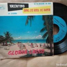 Discos de vinilo: GLORIA LASSO / VALENTINO / EP 45 RPM / LA VOIX DE SON MAITRE. Lote 218237966