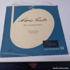Discos de vinilo: DISCO LP ANTONIO VIVALDI DIE VIER JAHRESZEITEN OPERA. Lote 218238140
