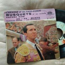 Discos de vinilo: JOSE LUCCHESI / PASO DOBLES / EP 45 RPM BARCLAY / LUIS MIGUEL DOMINGUIN TORERO. Lote 218239133