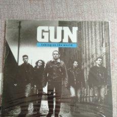 "Discos de vinilo: GUN "" TAKING ON THE WORLD "". PRIMERA EDICIÓN INGLESA.. Lote 218239165"