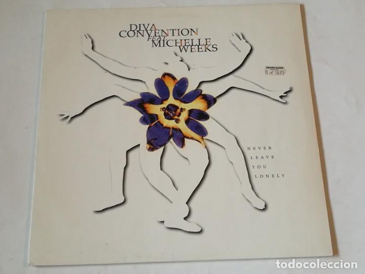 DIVA CONVENTION - NEVER LEAVE YOU LONELY - 1994 (Música - Discos de Vinilo - Maxi Singles - Techno, Trance y House)