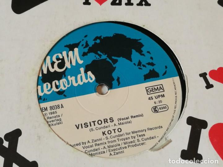 KOTO - VISITORS (VOCAL REMIX) - 1985 (Música - Discos de Vinilo - Maxi Singles - Disco y Dance)