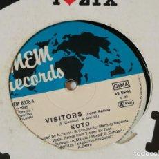 Discos de vinilo: KOTO - VISITORS (VOCAL REMIX) - 1985. Lote 218249511