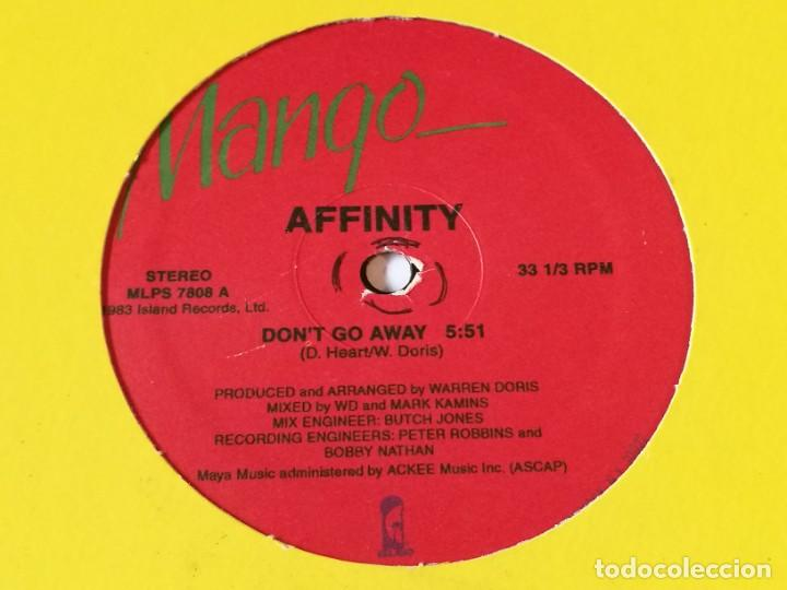 AFFINITY - DON'T GO AWAY (Música - Discos de Vinilo - Maxi Singles - Disco y Dance)