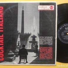 Discos de vinilo: COCKTAIL ITALIANO - LP SPAIN - EX * 1962 * NICO FIDENCO * E. MORRICONE * CUARTEO OK * NORA ORLANDI. Lote 218249915