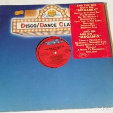 Discos de vinilo: VARIOUS - AND THE MIX GOES ON MEGAMIX - 1989. Lote 218250081