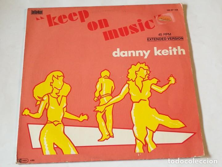 DANNY KEITH - KEEP ON MUSIC - 1985 (Música - Discos de Vinilo - Maxi Singles - Disco y Dance)