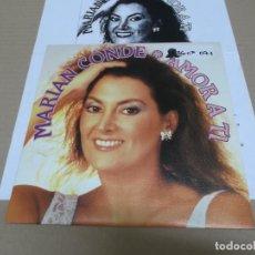 Discos de vinilo: MARIAN CONDE (SINGLE) AMOR A TI AÑO 1993 – PROMOCIONAL + HOJA PROMOCIONAL. Lote 218252225