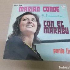 Discos de vinilo: MARIAN CONDE (SINGLE) CON EL MARABU AÑO 1971. Lote 218252280