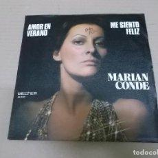 Discos de vinilo: MARIAN CONDE (SINGLE) AMOR EN VERANO AÑO 1976. Lote 218252325