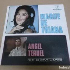 Discos de vinilo: MARIFE DE TRIANA (SINGLE) ANGEL TERUEL AÑO 1989 - PROMOCIONAL. Lote 218253472