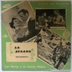 Discos de vinilo: LEN MERCER Y SU CUERDA MÁGICA. EXITOS DE PELICULAS 2: GELSOMINA LA STRADA BSO/ JOHNNY GUITAR +2 EP. Lote 218253862