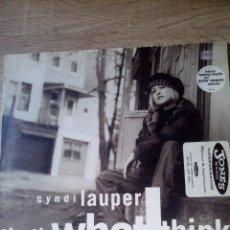 Discos de vinilo: CYNDI LAUPER MAXI SINGLE THAT'S WHAT THICK VINILO ED UK 1993 BUEN ESTADO. Lote 218258681