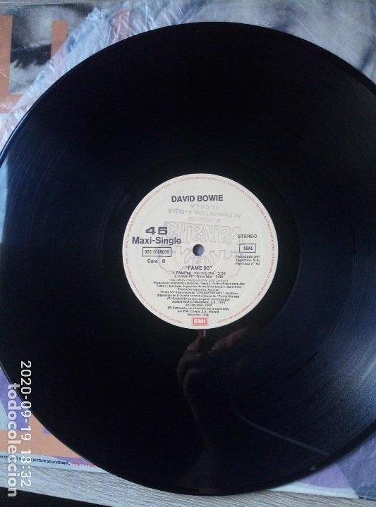 Discos de vinilo: David Bowie fame maxi single vinilo ed España 1990 buen estado - Foto 4 - 218258727