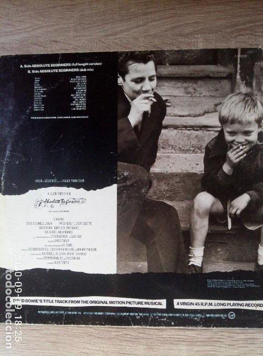 Discos de vinilo: David Bowie absolute beginners maxi single vinilo ed España 1986 Un poco deteriorado. Ver fotos - Foto 2 - 218258747