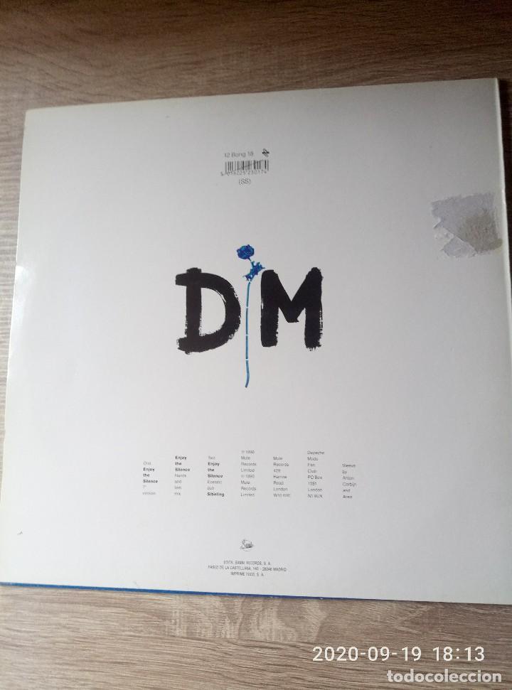 Discos de vinilo: Depeche Mode enjoy the silence maxi single vinilo ed españa buen estado despegado en contraportada. - Foto 2 - 218258841
