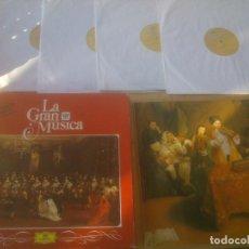 Discos de vinilo: LA GRAN MÚSCA DE VIVALDI A BACH . EDITA DEUTSCHE GRAMMOPHON. 4 DISCOS .LIBRO. Lote 218260822