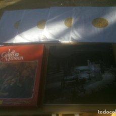 Discos de vinilo: LA GRAN MÚSCA DE ROSSINI A WAGNER . EDITA DEUTSCHE GRAMMOPHON. 4 DISCOS .LIBRO. Lote 218260963