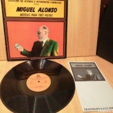 Discos de vinilo: MIGUEL ALONSO. MÚSICA PARA TRES POETAS. AUTORES E INTÉRPRETES ZAMORANOS. VOL 4. ZAMORA.. Lote 218264480