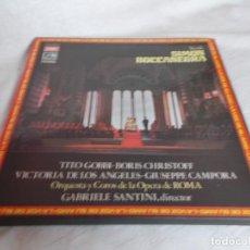 Discos de vinilo: SIMON BOCCANEGRA VERDI CAJA CON 3 LP'S. Lote 218271516