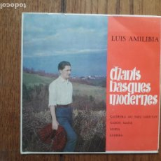 Discos de vinilo: LUIS AMILIBIA - CHANTS BASQUES MODERNES - GALDEZKA ARI NAIZ SARRITAN + GABON, MAITE + MARIA + LURBIR. Lote 218274486