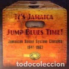 Discos de vinilo: VARIOUS - IT'S JAMAICA JUMP BLUES TIME! JAMAICAN SOUND SYSTEM CLASSICS 1941-1962 (2XLP). Lote 218274891