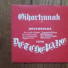 Discos de vinilo: MAITE IDIRIN - OIHARTZUNAK - MOSEN BERNAT + JUDIZIO JENERALA + EMAZTEN FABORE + EUSKARA. Lote 218275377