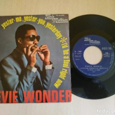 Discos de vinilo: STEVIE WONDER – YESTER-ME, YESTER-YOU, YESTERDAY / I'D BE A FOOL RIGHT NOW - TAMLA MOTOWN COMO NUEVO. Lote 218276071