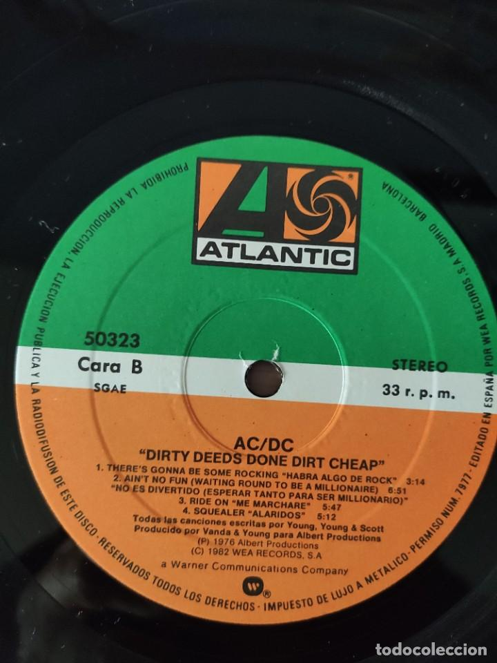 Discos de vinilo: AC/DC - DIRTY DEEDS DONE DIRT CHEAP - Foto 4 - 226142370