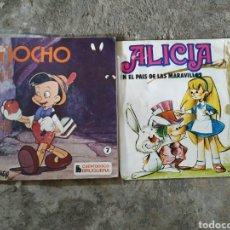 Discos de vinilo: 2 VINILOS CUENTA CUENTOS 7 PULGADAS. Lote 218284917