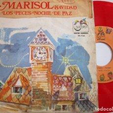 Discos de vinilo: MARISOL VINILO COLOR ROJO NOCHE DE PAZ. Lote 218290126