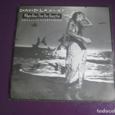 Discos de vinilo: DAVID LASLEY - WHERE DOES THAT BOY HANG OUT - SG EMI 1984 - ELECTRONICA DISCO 80'S - SIN USO. Lote 218291580