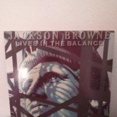 Discos de vinilo: LP JACKSON BROWNE-LIVES IN THE BALANCE, 1986 SPAIN RARO. Lote 218304615