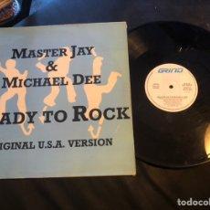 Discos de vinilo: MASTER JAY & MICHAEL DEE – READY TO ROCK HIP HOP 1987. Lote 218307502