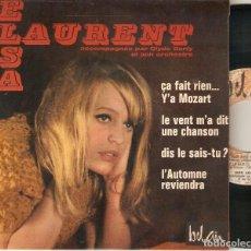 """Discos de vinilo: ELSA LAURENT 7"""" FRANCIA EP 45 SINGLE VINILO 1965 ÇA FAIT RIEN + 3 IMPORTACION POP FEMENINO RARO MIRA. Lote 218309678"""