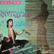 Discos de vinilo: INVITATION TO TANGO (ROLAND PALETTE Y SU ORQUESTA) - ADIOS MUCHACHOS/EL CHOCLO + 2. Lote 218317613