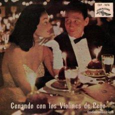 Discos de vinilo: VIOLINES DE PEGO - CZARDAS/DANZA HUNGARA Nº 1/VIOLIN GITANO/DOS GUITARRAS-OJOS NEGROS. Lote 218318802
