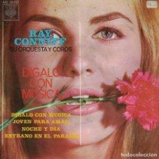 Discos de vinilo: RAY CONNIFF - DIGALO CON MUSICA/JOVEN PARA AMAR/NOCHE Y DIA/EXTRAÑO EN EL PARAISO. Lote 218319093