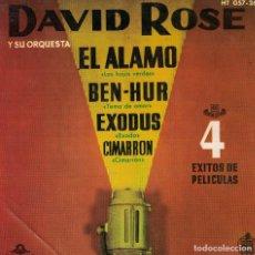 Discos de vinilo: DAVID ROSE - EL ALAMO / BEN-HUR / EXODUS / CIMARRON (EP ESPAÑOL, MGM RECORDS 1961). Lote 218319791