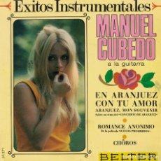 Discos de vinilo: MANUEL CUBEDO - EN ARANJUEZ CON TU AMOR / ROMANCE ANONIMO / CHOROS (EP ESPAÑOL, BELTER 1967). Lote 218320628
