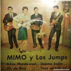 Discos de vinilo: EP MIMO Y LOS JUMPS : ADIOS MUNDO CRUEL + 3. Lote 218338402