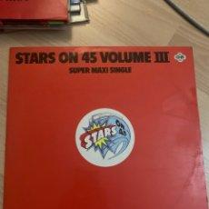 Discos de vinilo: STARS ON 45 VOLUME III - SUPER MAXI SINGLE.. Lote 218340941