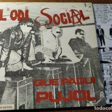 Discos de vinilo: L'ODI SOCIAL - QUE PAGUI PUJOL ********** RARO LP PUNK HARDCORE CATALÁN 1992 GRAN ESTADO!. Lote 218341535