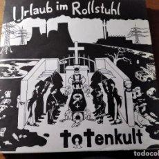 Discos de vinilo: URLAUB IM ROLLSTUHL - TOTENKULT ********** RARO LP PUNK ALEMÁN 1988 BUEN ESTADO. Lote 218341810