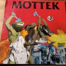 Discos de vinilo: MOTTEK - RIOT ********** RARO LP PUNK ALEMÁN 1986 BUEN ESTADO. Lote 218342077