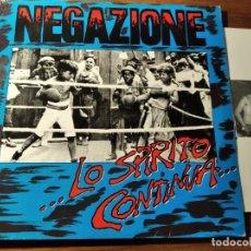 Discos de vinilo: NEGAZIONE - LO SPIRITO CONTINUA... ********** RARO LP PUNK HARDCORE ITALIANO 1986. Lote 218342471