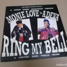 Discos de vinilo: MONIE LOVE VS. ADEVA (MAXI) RING MY BELL (2 TRACKS) AÑO 1991. Lote 218342917